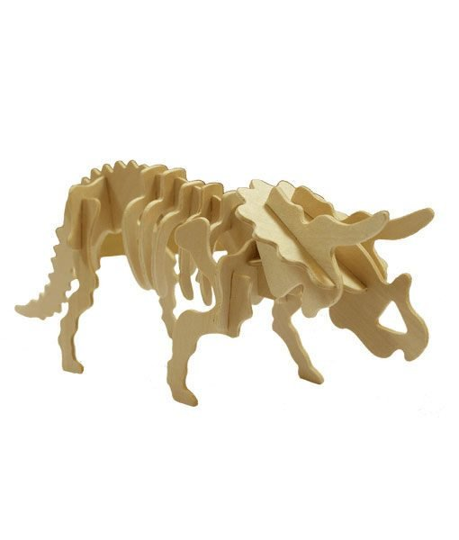 Triceratopo Puzzle di legno