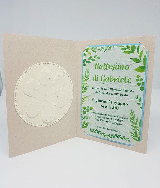 Inviti battesimo in carta piantabile