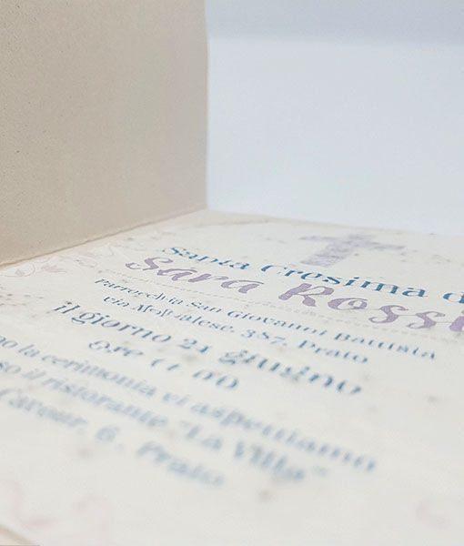 Partecipazione cresima in carta piantabile