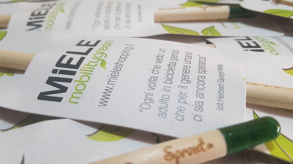 Miele Shopping sceglie verde vivendo per i suoi gadget aziendali