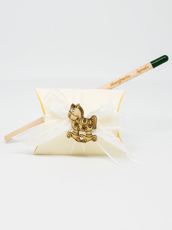 Bomboniera Battesimo scatolina con Matita Piantabile