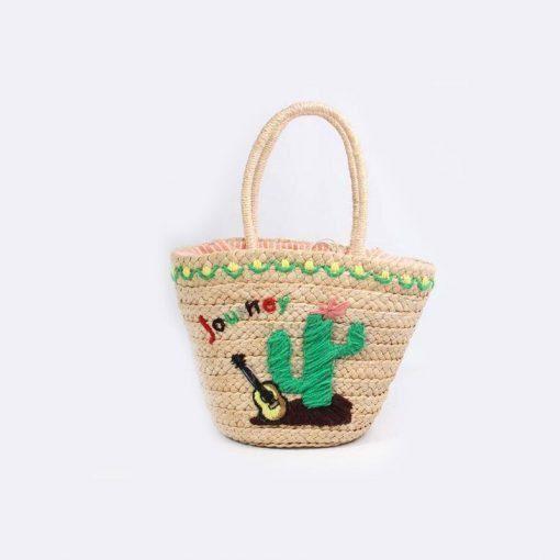 borsa in paglia cactus