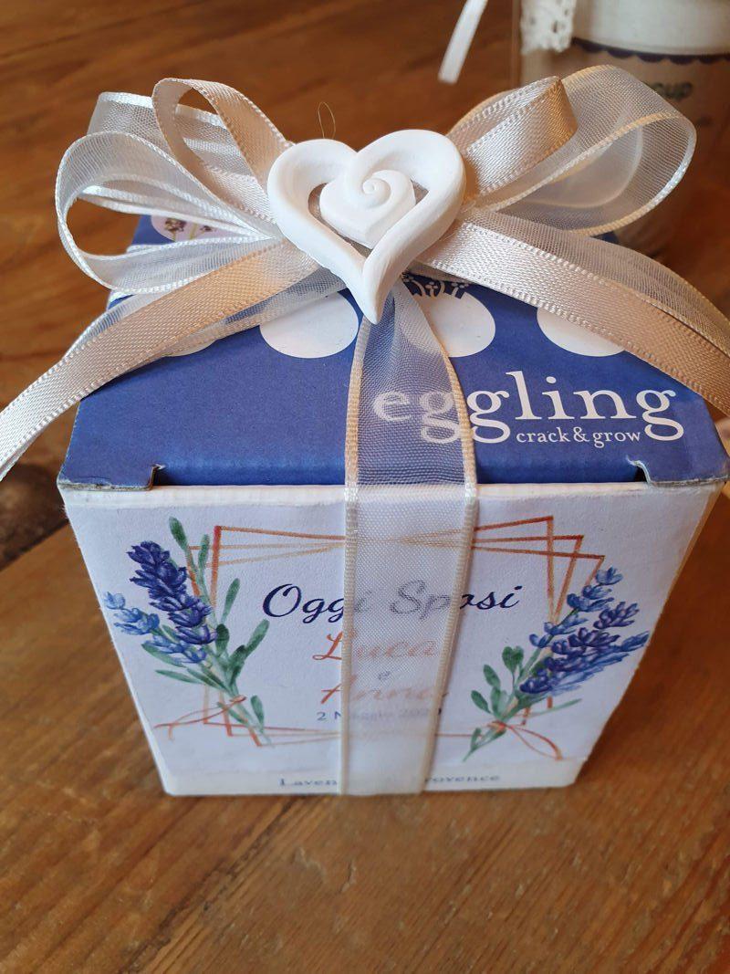 bomboniera eggling lavanda