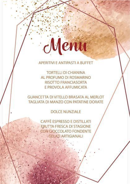 menu in carta piantabile