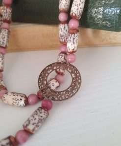 collana endless rodonite