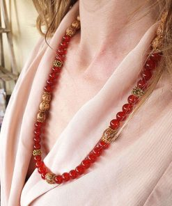 Collana agata rossa sfumata