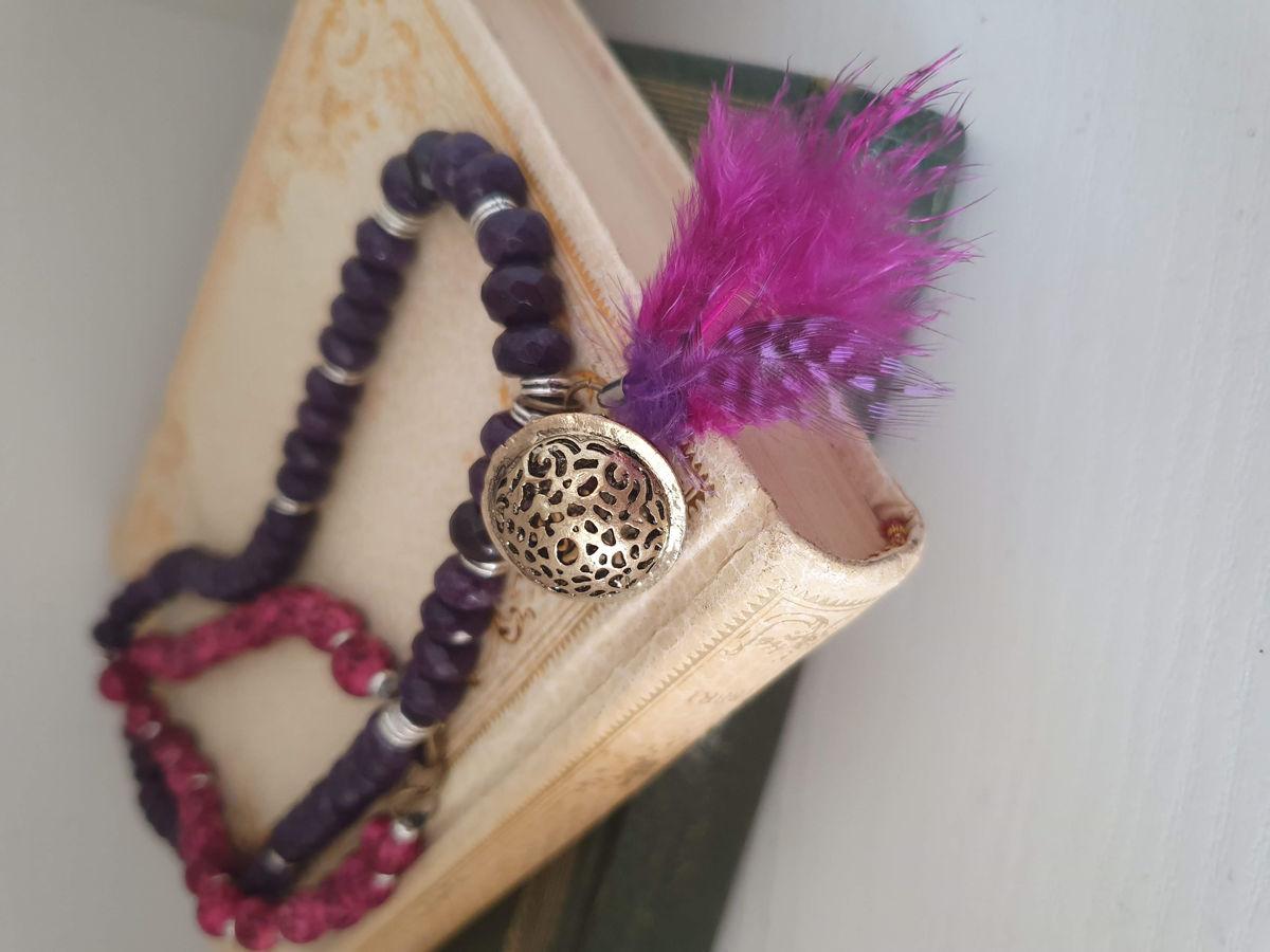 collana agata viola