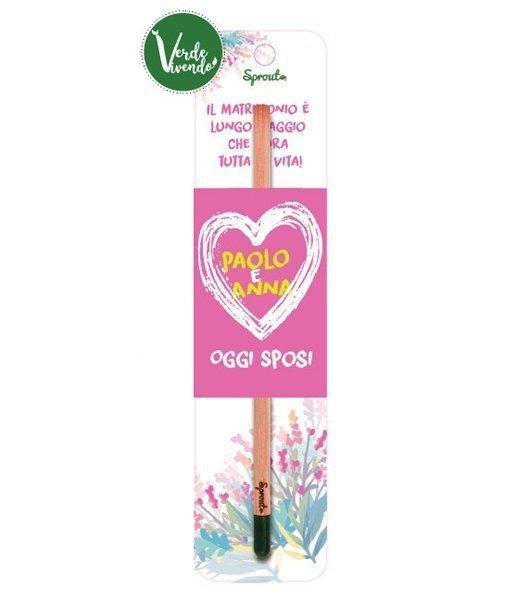 matita piantabile bomboniera matrimonio