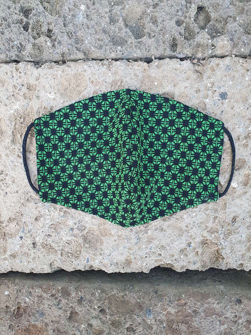 mascherina jacquard verde