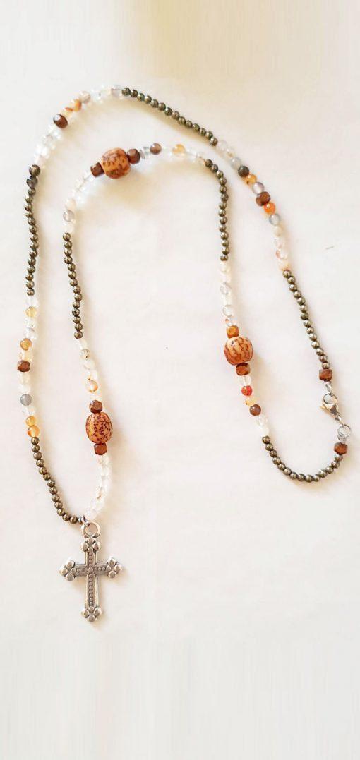 collana pendente argento tibetano