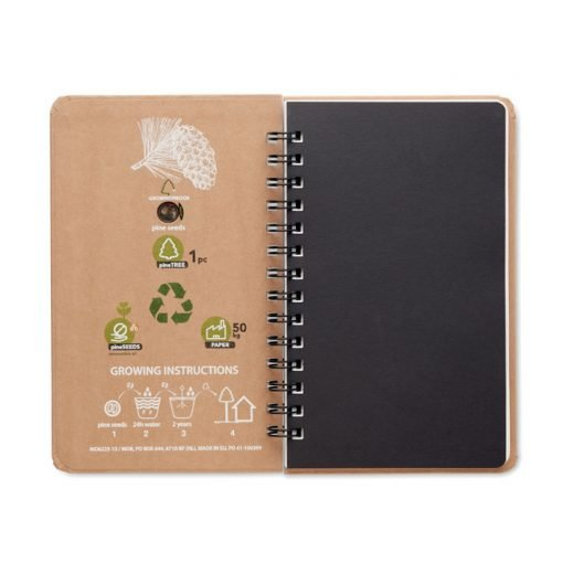 Notebook in legno di pino